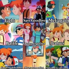 Pokemon Amv, Pokemon Anime Characters, Ash Pokemon, Pokemon Ships, Pokemon Comics, Pokemon Funny, Cool Pokemon, Pokemon Ash And Misty, Pokemon People