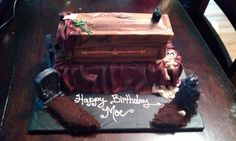Vampire Diaries inspired Cake for a client.....she loved it & I loved making it!