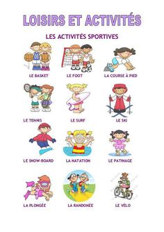 1000 images about french sports loisir on pinterest sports worksheets and flashcard. Black Bedroom Furniture Sets. Home Design Ideas