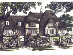 Tudor House Plan with 3741 Square Feet and 4 Bedrooms(s) from Dream Home Source | House Plan Code DHSW50332