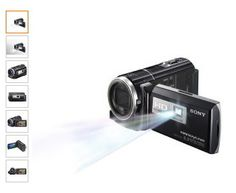 Sony HDRPJ260V High Definition Handycam 8.9 MP Camcorder with 30x Optical Zoom, 16 GB Embedded Memory and Built-in Projector