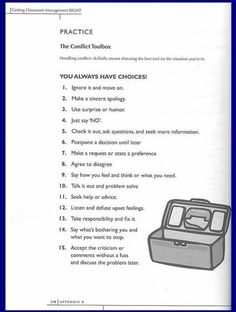 Kids Health Healthy Boundaries - Learning to deal with conflict. Many people spend their lives avoiding conflict, resulting in personal misery. Here are some positive skills to deal with conflict - The Conflict Toolbox - Therapy Worksheets, Worksheets For Kids, Therapy Activities, Reading Worksheets, Counseling Activities, School Counseling, Elementary Counseling, Elementary Schools, Coping Skills