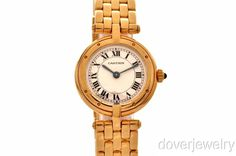Cartier VENDOME 18K Gold Mint Condition Watch 63.2 Grams NR   CONTACT CARTIER FOR PRES HOLLANDE AND GET ME ORDER FOR WOMEN AND MEN