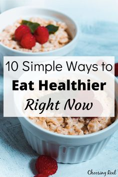 When it comes to eating healthier, start simple. Here are 10 simple ways to eat healthier that you can implement right away. Ways To Eat Healthy, Healthy Life, Healthy Eating, New Recipes, Favorite Recipes, Healthy Recipes, Healthy Meals, Healthy Food, Just Bake