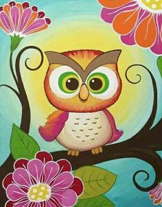 3 canvas set of owl paintings Big size by Leilasartcorner on Etsy Owl Always Love You, Owl Crafts, Pintura Country, Owl Art, Baby Owls, Painting Inspiration, Painting & Drawing, Canvas Art, Owl Canvas