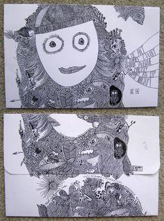Творческий проект «Mail Me Art». Конверт как арт-объект Snail Mail, Mail Art, Photo Art, Design Art, My Arts, Letters, My Love, Post Office, Letter