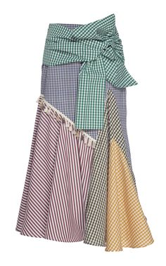 Get inspired and discover Silvia Tcherassi trunkshow! Shop the latest Silvia Tcherassi collection at Moda Operandi. Patchwork Patterns, British Indian, Cotton Skirt, Cropped Sweater, Gingham, Hemline, Wool Blend, Cool Designs, Style Inspiration