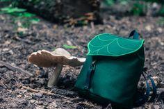 Hoja verde oscuro Mini mochila, mochila mujer, Festival de Boho, mochila impermeable Hipster, niño mochila, mochila pequeña
