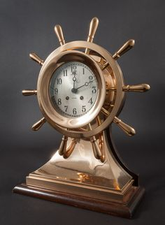 A Large Chelsea 'Mariner's' Model Ships Bell Clock. Important nautical art for sale on Curatorseye.com