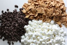 """s'mores popcorn - Nest of Posies; We can make this and put it in a bag with label: """"She's about to pop!"""""""