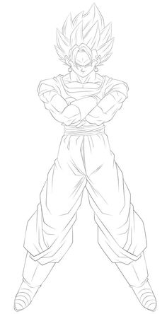 Vegetto Blue Linework 3 by on DeviantArt Goku Drawing, Ball Drawing, Dbz Drawings, Dope Cartoon Art, Anime Character Drawing, Dragon Ball Gt, Manga Girl, Anime Girls, Rosario Vampire