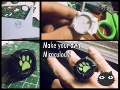 Hey everyone! This is gonna be a very short tutorial for making chat Noir's miraculous. Cosplay Tutorial, Cosplay Diy, Diy Tutorial, Ladybug Crafts, Ladybug Party, Cat Noir Ring, Cat Noir Costume, Miraculous Ladybug Costume, Hello Kitty Birthday