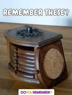 Vintage Wood and Cork Coaster Set with Storage Box. - I remember this from my childhood. Retro Vintage, Photo Vintage, Vintage Toys 1970s, 1970s Toys, Retro Toys, Vintage Wood, Vintage Signs, 1960s, Vintage Items