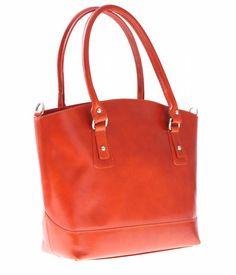 Univerzální kožená italská kabelka na každý den zrzavá 43aafa083ab