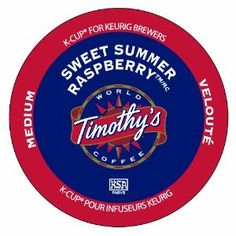 Timothy's World Coffee, Sweet Summer Raspberry, 24-Count K-Cups for Keurig Brewers (Grocery)