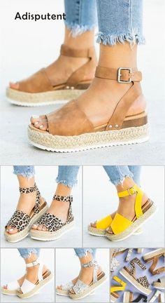 875083027 Wedges Shoes For Women High Heels Sandals Summer Shoes 2019 Flip Flop  Chaussures Femme Platform Sandals
