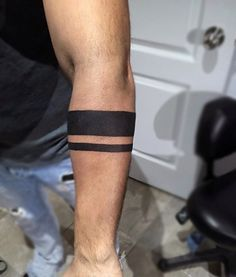 Simple Guys Armband Tattoo Of Two Solid Black Ines                                                                                                                                                                                 More