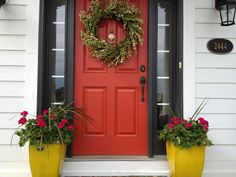 "House Envy: ""Shut the front door,"" these will blow your doors off! Sherwin Williams Rave Red"