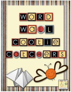 Cootie Catcher Word Wall Interaction - a variety of cootie catchers to keep your students interacting with your word wall - can be used as a center activity, or as part of your word work. $3