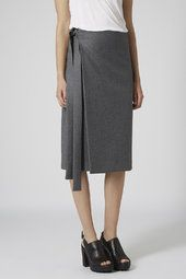 Melton Wool Wrap Skirt by Boutique
