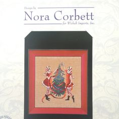 This listing is for a physical counted cross stitch pattern Red Tree from the Red Ladies Collection by Nora Corbett.  Stitched area on 32 count