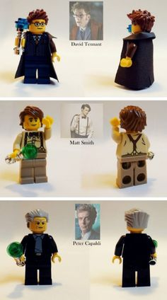 Make Your Own Time Traveling Adventures With Custom Doctor Who Lego Figures. A Doctor Who Lego game would be soooo fun! Dr Who, Serie Doctor, Bbc, Christopher Eccleston, Lego Figures, Fandoms, Torchwood, Geronimo, Time Lords