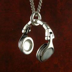 #Música/#Instrumentos & #Afins ☆ Jóia ,Pingente Headphones ☆