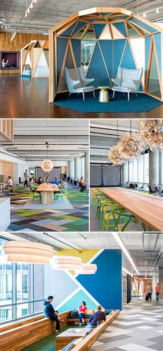 New open office lighting inspiration ideas Office Space Design, Workplace Design, Office Interior Design, Corporate Design, Retail Design, Interior Design Inspiration, Office Spaces, Design Ideas, Desk Office