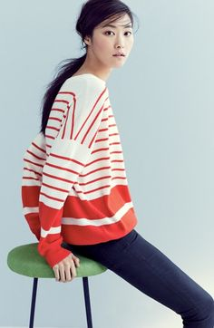 really loving this red and white striped top