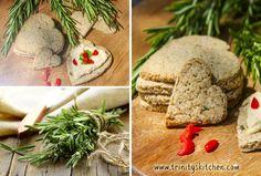 Rosemary Oatcakes (savoury, wheat-free, vegan cracker)