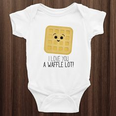I Love You A Waffle Lot  Infant Baby Rib Short by ALittleLeafy