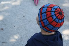 Crochet spiderman hat --- needs flap on the sides so we can tie it up and a big…