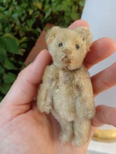 Original Vintage German Steiff Teddy Bear c1920s Mohair Glass Eyes Straw Stuffed | eBay