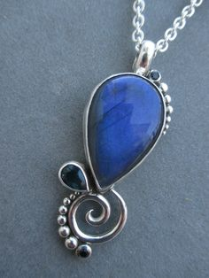 One of a Kind Sterling Silver Labradorite Pendant by RichelleJewelry on Etsy