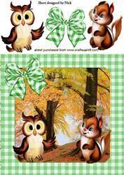 Uil En Leuk Weinig Chipmunk In The Woodlands 8x8