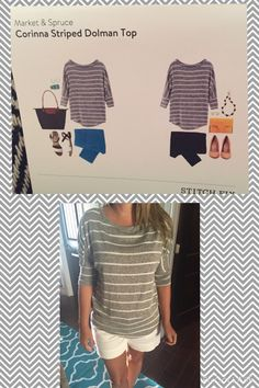#stitchfix 4 Market & Spruce Corinna Striped Dolman Top this is is a little simple but I had my styling fee and this is a good shirt that could work in almost all seasons in Texas-kept
