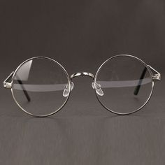 Women or Men Retro Round Metal Frame Clear Lens Glasses Nerd Spectacles Round Lens Sunglasses, Cute Sunglasses, Sunglasses Women, Fake Glasses, Glasses Frames, Round Metal Glasses, Lunette Style, Fashion Eye Glasses, Womens Glasses