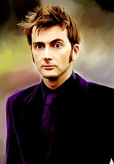 """""""David In Purple"""" - Digital Oil Painting As part of a little tribute to David's new role in the Marvel Universe as The Purple Man, I did end up painting the manip I made of David in a purple velvet. Doctor Who Art, 10th Doctor, Good Doctor, Purple Man, Purple Velvet, Jessica Jones Marvel, Photoshop Filters, David Tennant Doctor Who, British Accent"""