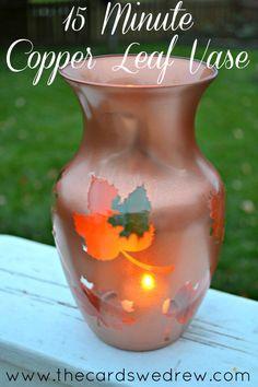 15 Minute Copper Leaf Vase