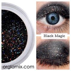 Black Magic Natural Eyeshadow http://www.orglamix.com Daily #Giveaway: Facebook.com/orglamix #makeup #mua #makeupartist #natural  100% #natural, #eco #makeup formulated with mineral power instead of petrochemicals. 250+ #colors in #shimmer, #sparkle, #duochrome, #twinkle, #glitter crafted in small batches + hand packaged with #love  All #orglamix products are available for purchase at orglamix.com! #Affordable worldwide shipping. We guarantee you will #love #Orglamix, or your money back.