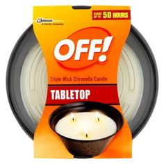 OFF! Triple Wick Citronella Candle 23 Ounces