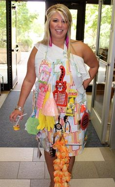 "Bridal shower Game - ""The Apron Game"" ; pin a bunch of misc items to an apron, we did around 30 items. Have the bride walk make one lap around the party, only waving to guests and not stopping to talk to anyone. Upon completion of the lap around the party, the bride goes away and takes off the apron, then guests fill out a game sheet to see who can remember the most items that were on the apron. Prize for the winner with the most guesses."