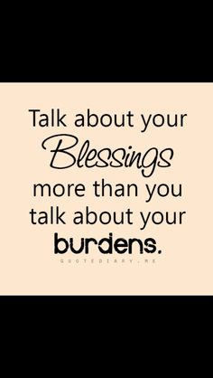 Talk about your blessings