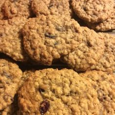 The toffee candy bar bits make this cookie VERY addictive! A great twist on an old-fashioned cookie. Fruit Cake Cookies Recipe, Toffee Cookie Recipe, Toffee Cookies, Oatmeal Cookie Recipes, Chip Cookies, Oatmeal Raisin Bars, Oatmeal Raisins, Old Fashioned Tea Cakes