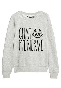 "Sweat ""Chat m'énerve"""