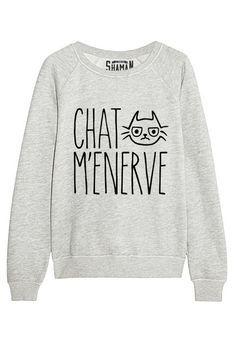 "Sweat ""Chat m'énerve"" http://amzn.to/2k2HTMQ"
