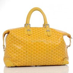 Authentic Goyard Yellow Coated Canvas Travel Bag