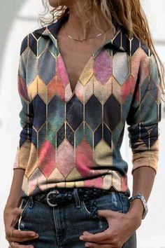 Half Sleeves, Types Of Sleeves, Shirt Sleeves, Sexy Bluse, Lace Up T Shirt, Retro Sweatshirts, Shirt Bluse, Basic Tops, V Neck Tops