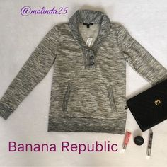 Banana Republic Button Sweater Banana Republic Button sweater with pockets. Machine wash cold.  Material: 60% Cotton and 40% Polyester. No trades or PP. Reasonable offers are welcome  MSRP: $49.99 Banana Republic Sweaters Crew & Scoop Necks