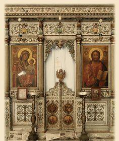 Jerusalem: Iconostasis in Orthodox church - Gerusalemme Iconostasi by voyager601111 on Flickr.